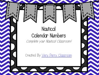 Nautical Calendar Numbers