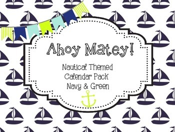 Nautical Calendar Pack - Navy & White