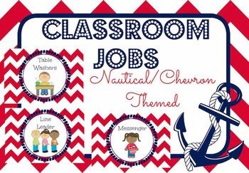 Nautical / Chevron Classroom Jobs