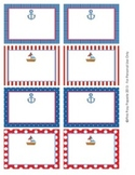 Nautical Classroom Bin Tag Labels