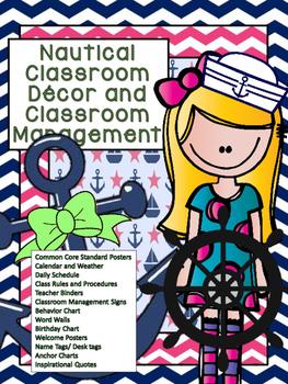 Nautical Classroom Decor and Management Bundle