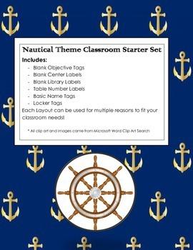 Nautical Classroom Starter Set