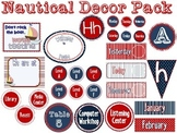 Nautical Classroom Themed Decor Packet {EDITABLE}