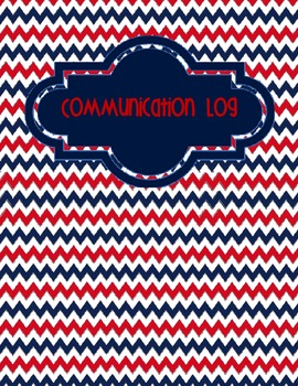Nautical Communication Log Cover Page