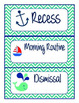 Nautical Daily Schedule Cards