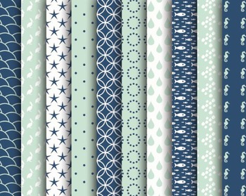 Nautical Digital Papers Set #147