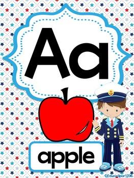 Nautical Kids Alphabet Posters