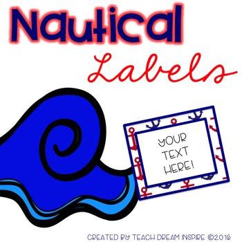 Nautical Labels (Editable)