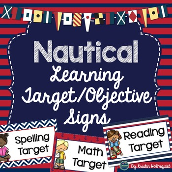 Nautical Learning Target & Objective Signs