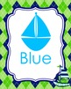 Nautical Navy and Lime Color Posters