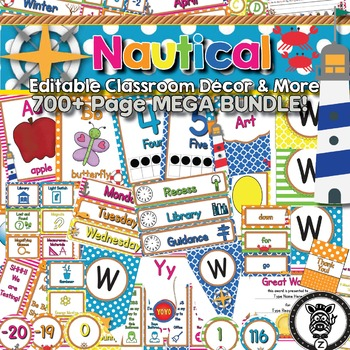 Nautical Neon Classroom Theme