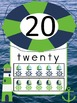 Nautical Number Posters (0 to 20) with Ten Frames (Navy/Lime)
