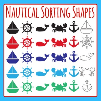Nautical Ocean Shapes Set for Sorting - Commercial Use Cli
