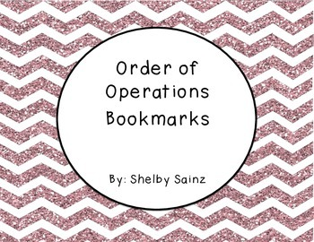 Order of Operations Rules Interactive Notes and Bookmarks FREEBIE