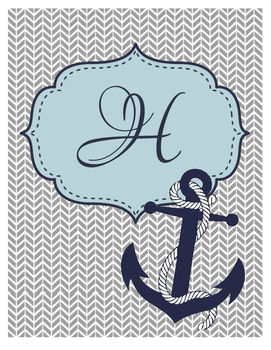 Nautical Planner Binder Cover Style 2