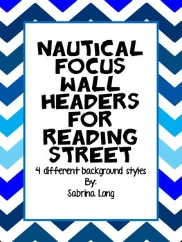 Nautical: Reading Street Interactive Focus wall headers
