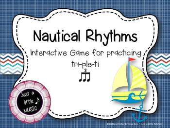 Nautical Rhythms - Interactive Reading Practice Game {triple ti}