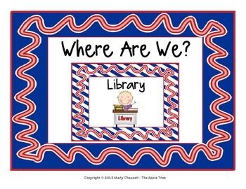 "Class Location Cards ""Where Are We?"" - Nautical Ribbons &"