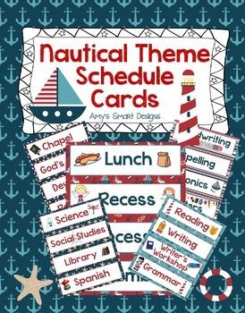 Nautical Schedule Cards