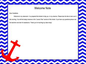 Nautical Sub Binder Editable