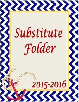 Nautical Substitute Binder Cover Sheet