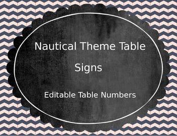 Nautical Table Numbers (Editable)