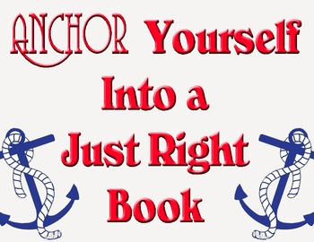 Nautical Theme: Anchor Yourself Into a Just Right Book Sign