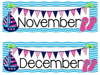 Nautical Theme Calendar