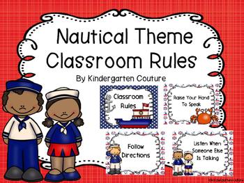 Nautical Theme Classroom Rules