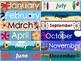 Nautical Theme Editable Calendar (Color and Coloring Book Styles)
