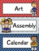 Nautical Theme - Editable Schedule Cards- Classroom Decor