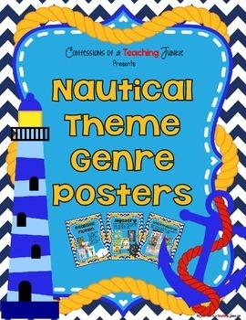 Nautical Theme Genre Posters Set