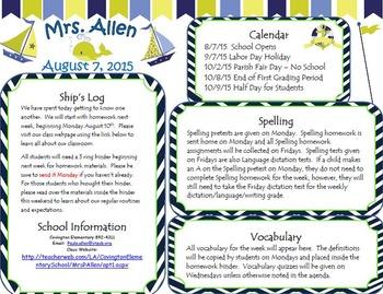 Nautical Theme Newsletter