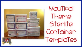 Nautical Theme Sterilite Container Templates