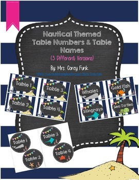 Nautical Theme Table Numbers Nautical Ocean Theme Table Nu