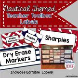 Nautical Theme Teacher Toolbox Labels