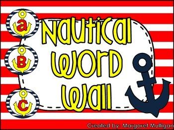 Nautical Theme Word Wall