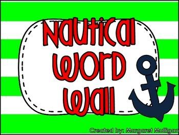 Nautical Theme Word Wall - Lime Green