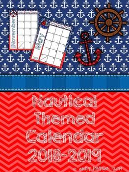 Nautical Themed 2016-2017 School Year Calendar