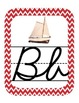 Nautical Themed ABC's Cursive Edition (with corresponding