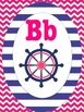 Nautical Themed Alphabet Pink and Blue
