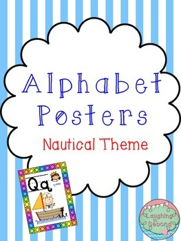 Nautical Themed Alphabet Posters