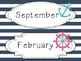 Nautical Themed Calendar (mint and pink)