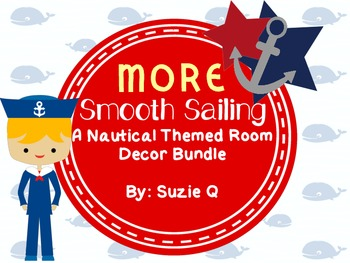 Nautical Themed Classroom Decor Bundle part 2