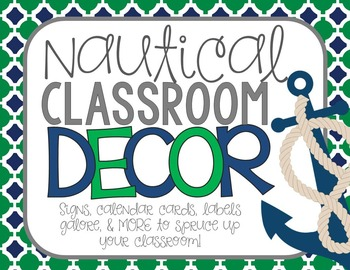 Nautical Themed Classroom Decor Pack