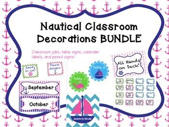 Nautical Themed Classroom Decoration BUNDLE