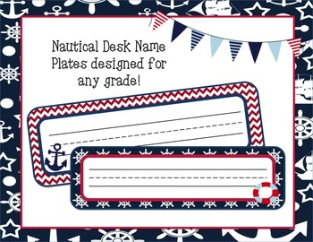 Nautical Themed Desk Name Plates