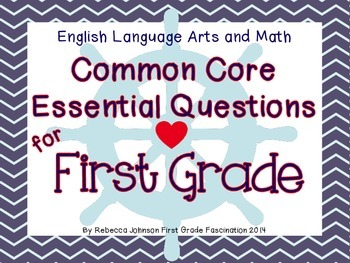 Nautical Themed ELA and Math Common Core Essential Questio