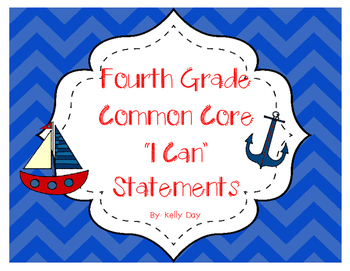 "Nautical Themed Fourth Grade ""I Can"" Statements"