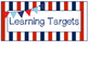 Nautical Theme Learning Targets